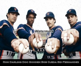 MLB 1986 New York Mets Starting Pitchers Gooden Darling Color 8 X 10 Pho... - $5.93
