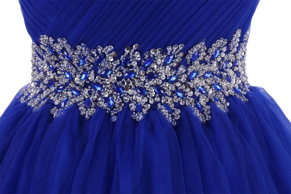 Lemai Tulle Beaded Short Prom Dresses A Line Homecoming Cocktail Party Gowns ...