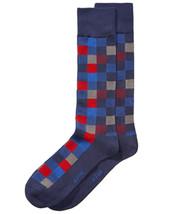 Alfani Box-Print Socks Blue Mens - $10.00