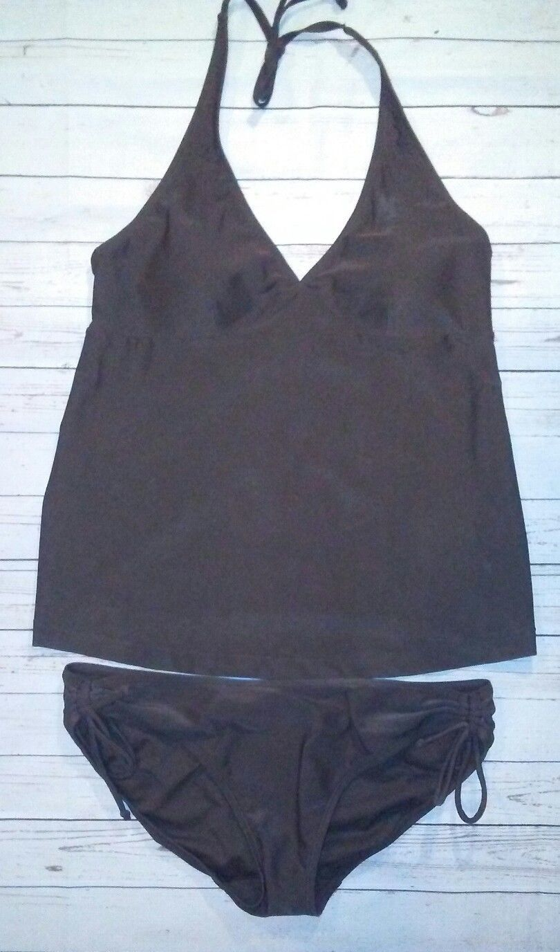 9fbd5a226a144 57. 57. Previous. Old Navy SZ Small Maternity 2 Piece Halter Tankini  Swimsuit Womens Brown EUC