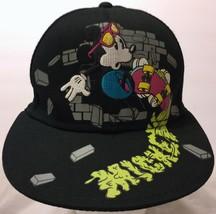 Mickey Mouse Skateboard Skater Sunglasses Black Snapback Hat Walt Disney Skate - $33.65