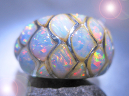 HAUNTED ANTIQUE OPAL RING  PROTECTED & CALM SEAS MYSTICAL TREASURES MAGICK - $222.00