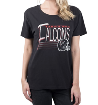 Ultra Game Women's  NFL Atlanta Falcons Black Scoop SS Tee Shirt Size LARGE - $17.77