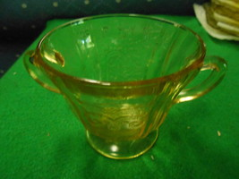 Great Collectable Depression Glass Amber SUGAR Madrid Pattern - $7.59