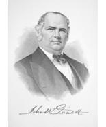 JOHN GARRETT Maryland Banker & Railroad President - 1895 Portrait Antiqu... - $9.45