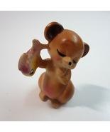 Vintage Josef Originals Papa Bear with Fish Ceramic Figurine with Sticke... - $24.99