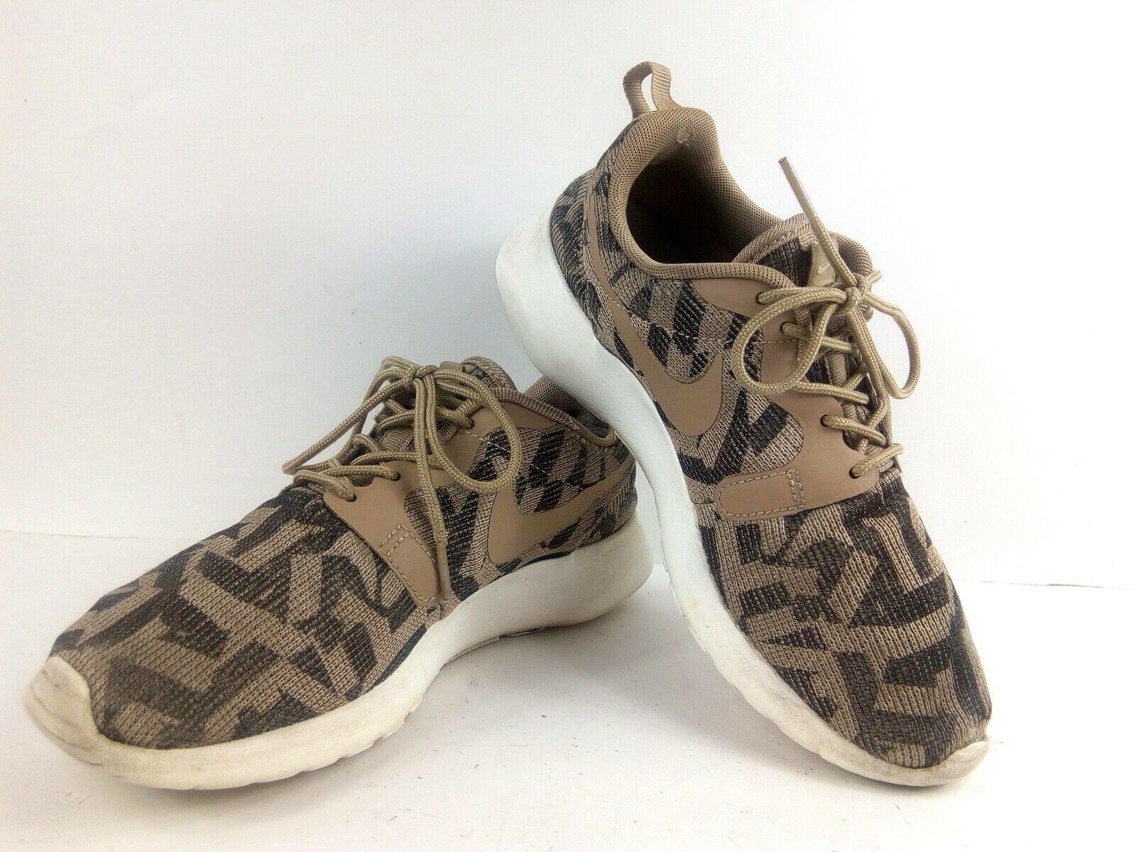 Nike Women's Sneakers 6.5 Roshe Run One Jacquard Beige Desert Camo 705217 200