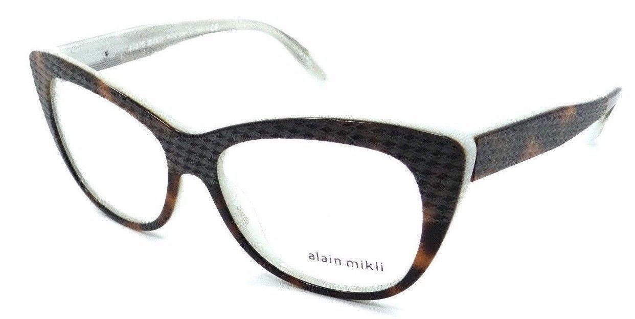 Alain Mikli Rx Eyeglasses Frames A01346M C009 52x15 Havana / Dot White Italy - $105.06