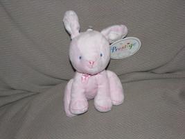 PRESTIGE STUFFED PLUSH BABY GIRL PINK BUNNY RABBIT EASTER RATTLE TOY BEA... - $31.67