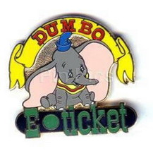 Disney WDW - Dumbo E-Ticket  Authentic  pin - $59.99