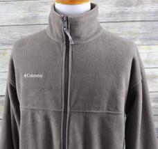 NWT Columbia Flattop Mountain Fleece Jacket MENS XL Tan Polyester - $39.99