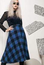 80s vintage pleated tartan skirt - $34.46