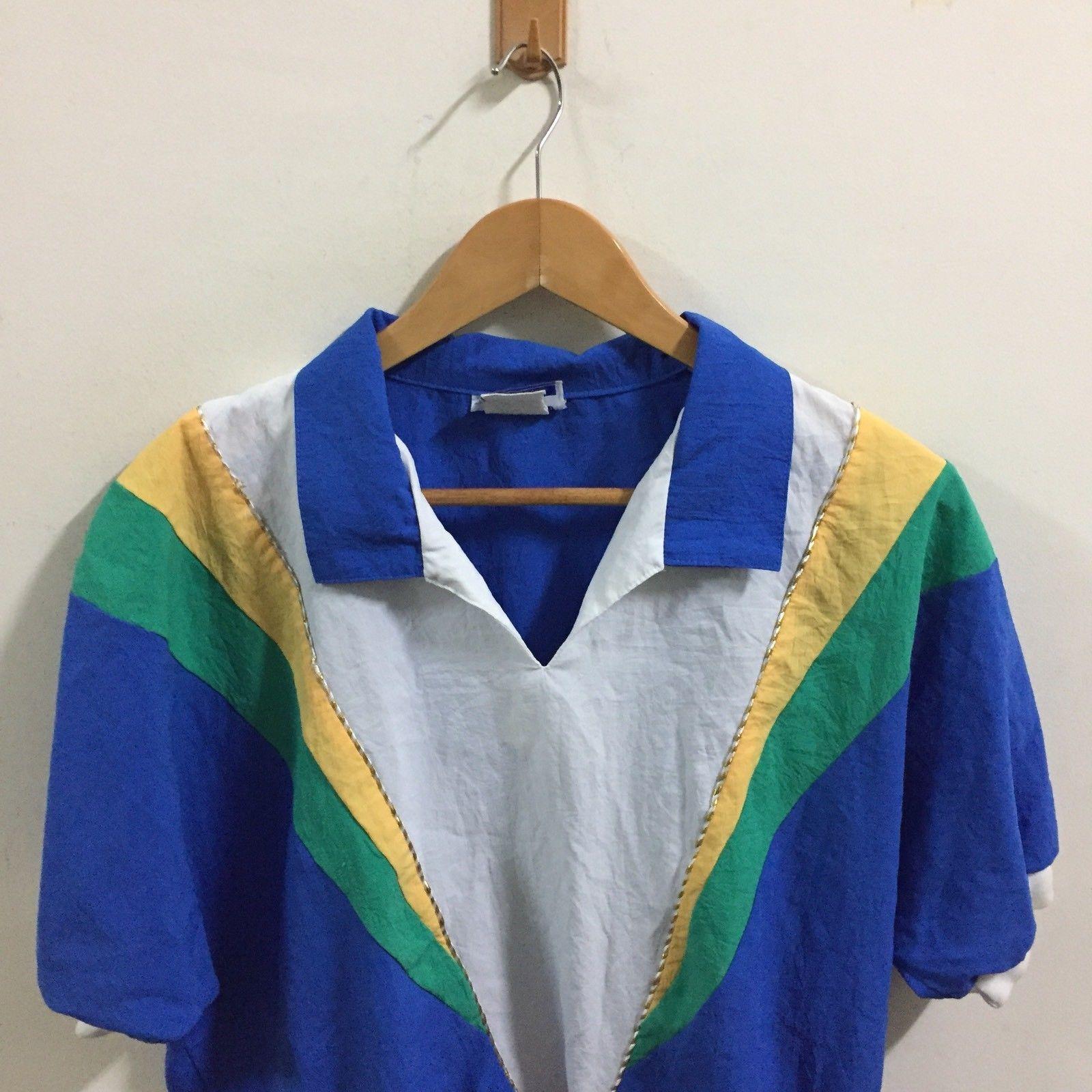 VTG 90's Gape God Tops T-Shirt SZ L ColorBlock  Rare Made In USA image 4