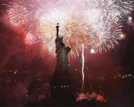 Statue Liberty New York 4th July Vintage 11X14 Color Historic Memorabilia Photo - $13.95