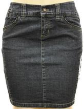 Dkny Jeans Juniors Premium Fashion Stretch Denim Skirt With Rhinestones image 1