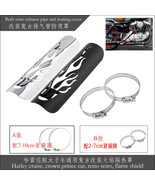 Black Exhaust Muffler Heat Shield Cover Heel Guard Motorcycle For Harley... - $9.89