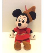 Disney Store Brave Little Tailor Mickey Mouse Bean Bag Stuffed Plush Red... - $14.30