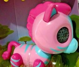 Zoomer Zupps Safari Pets Zella Toy Zebra Pink Lights Sounds Sensors Interactive - $16.80