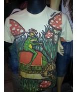 Men T Shirt short sleeve cotton Turtle Frog Mushroom Magic New  M User b... - $12.86