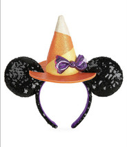 New Disney Parks 2020 Halloween Minnie Mickey Ears Headband Witch Hat In... - $40.19
