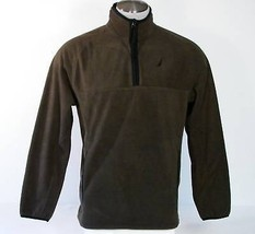 Nautica Olive Vine 1/4 Zip Fleece Jacket Top Mens Medium M NWT $80 - $59.39
