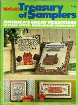 McCalls Treasury of Samplers for Cross Stitch Needlepoint Embroidery 1975  - $6.99