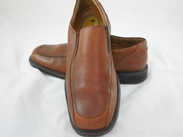 DOCKERS LEATHER LOAFERS Size 10 Men's BROWN SLIP ON Casual Dress shoes - $28.70