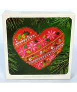 Hallmark Keepsake Christmas Ornament Embroidered Heart 1983 - $12.80