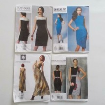 Vogue Designer Dress Pattern Lot Anne Klein Unger Platt Finetti B5 D5 E5 - $34.64
