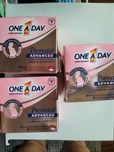 3 x One A Day Women's Prenatal Advanced Complete Multivitamin 30 softgel... - $15.50