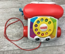 Fisher Price Phone Telephone Pull Along Toy Chatter Moving Eyes Toy Stor... - $6.97