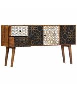 vidaXL Solid Mango Wood Sideboard with Printed Pattern Side Cabinet Storage - $224.99