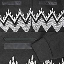 EKZ Men's Graphic Geo Tribal Fleece Lined Zip Up Sherpa Hoodie Jacket image 15