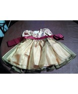Toddlers Gold & Burgundy Girls dress with Roses by Good Girl  Size 2 - $9.90