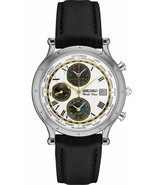 Seiko Men's Essentials Stainless Steel Japanese Quartz Watch Leather Strap - $194.95