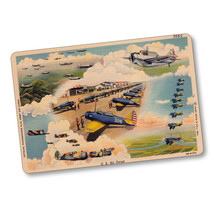 United States Army Air Corps Post Vintage Card Design Aluminum Sign - $15.79