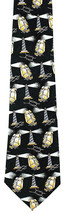 Lighthouse Ships Men's Necktie Sailing Boat Ship Knot Novelty Green Neck... - $14.85