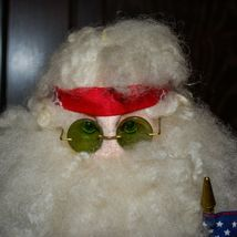 "Handcrafted ""Big Nick"" Biker Santa Claus Father Christmas Signed 24"" Cloth Doll image 6"