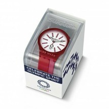 Tokyo 2020 Olympics Watch Swatch B Kurenai Red Limited Model - $184.99