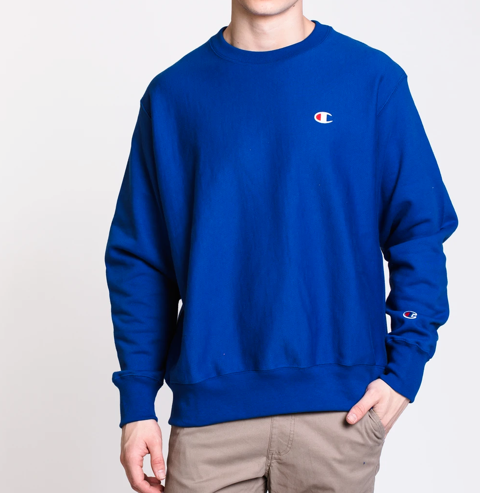 Primary image for Champion Men's Reverse Weave Fleece Crew Neck Sweatshirt NEW AUTHENTIC RYBL GF70