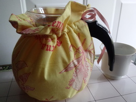 Vintage cotton handmade 8-12 Cup  Reversible, Insulated Tea Pot/kettle C... - $38.26