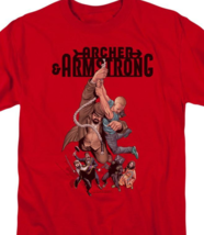 Archer & Armstrong T Shirt Valiant Comics 90s comic book graphic tee red VAL206 image 2