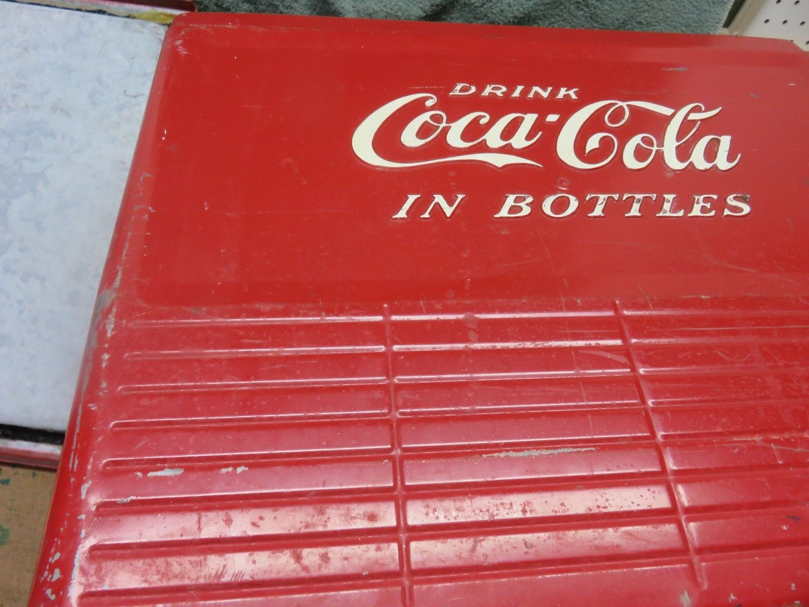 Early Vintage Coca Cola Coke Picnic Cooler Bottle Carrier Progress Refrigerator