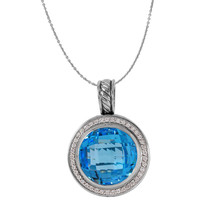 DAVID YURMAN Diamond Albion Topaz Pendant Designer Pendant L514 - $1,250.00