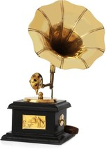 ANTIQUE SHOWPIECE HANDMADE DECORATIVE VINTAGE STYLE GRAMOPHONE DUMMY MOD... - $41.57