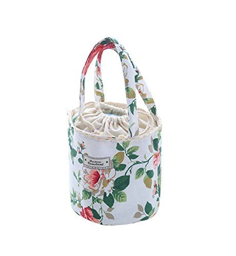 Peony,Kids Gift Large Capacity Lunch Bag Heat Retaining