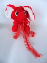 """Amscan Stuffed Baby Elephant - Red with white ears, cute! - 5"""" - $9.91"""