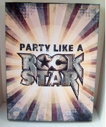 Party Like a Rock Star Rock And Roll Canvas Wall Hanging Print man cave - $5.93