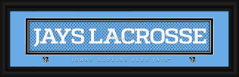 John Hopkins University 8x24 Slogan Stitched Jersey Framed Print