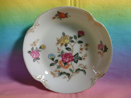 Charm Crest Fine China Mayfair Pattern Floral Replacement Fruit Bowl Gol... - $5.93